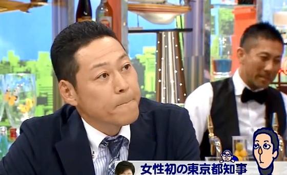ワイドナショー画像 政見放送の音声が消されたてるちゃんの話題になり複雑な表情の東野幸治 2016年8月7日