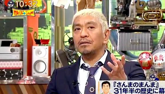 ワイドナショー画像 ギャラを下げにくいという明石家さんまと同じ立場で共感する松本人志 2016年8月21日