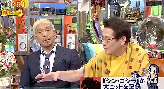 ワイドナショー画像 ピーコ「東京が震災に見舞われた時にどうするかをシン・ゴジラは描いている」 2016年8月21日
