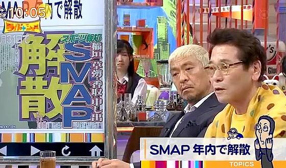ワイドナショー画像 ピーコがSMAP解散について中居正広のヒーコを例にスマスマの思い出を語る 2016年8月21日