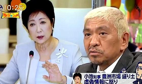 ワイドナショー画像 松本人志が豊洲市場の盛り土虚偽情報問題に「都に税金を払いたくない。ふるさと納税を行かしたい」と怒り 2016年9月18日