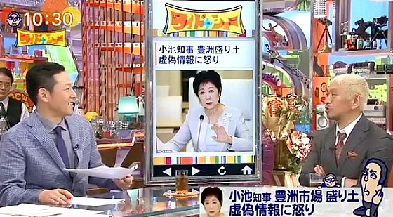 ワイドナショー画像 東野幸治 松本人志「東京都に税金払うのアホらしくなる」 2016年9月18日