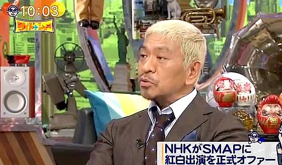 ワイドナショー画像 松本人志がSMAPの紅白出場を正式にオファーしたNHKに「利用してるよね」 2016年9月25日