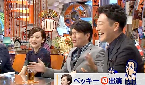 ワイドナショー画像 スキャンダルを経験したベッキーと堀潤を両手に抱えてヒロミ「大変なんだよ」 2016年10月9日