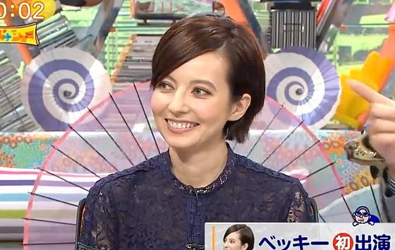 ワイドナショー画像 東野幸治の半笑いを見て警戒するベッキー 2016年10月9日