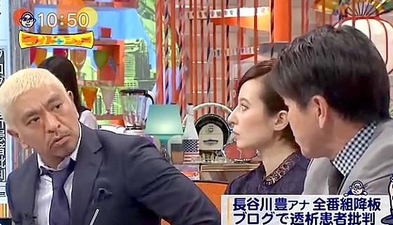 ワイドナショー画像 人工透析患者を中傷した長谷川豊のブログに対し松本人志が酔って書いた可能性を指摘 2016年10月9日