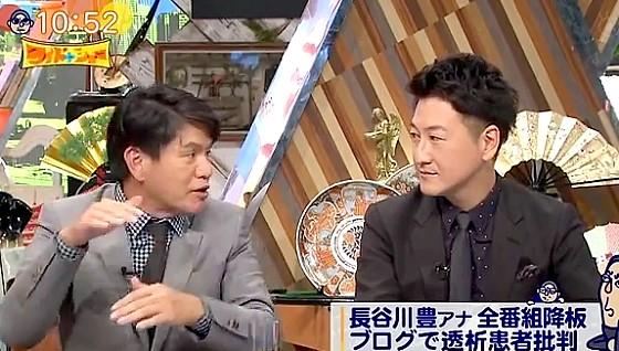ワイドナショー画像 ヒロミが長谷川豊のブログに「怒られたら普通は学ぶものだがこの人はさらに上を行く」 2016年10月9日