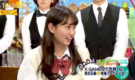 ワイドナショー画像 番組で突如芸能界引退を宣言したワイドナ現役高校生の青木珠菜 2016年10月23日