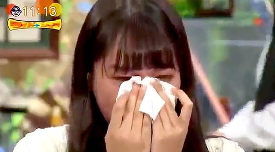 ワイドナショー画像 収録後に声を上げて泣く芸能界を去る青木珠菜 2016年10月23日