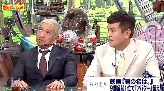 ワイドナショー画像 石原良純と君の名はの関連をむりやり指摘する松本人志 2016年10月30日