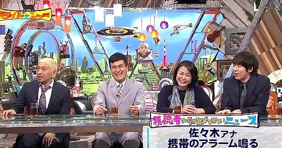 ワイドナショー画像 本番中にアラーム音を鳴らしてしまった佐々木恭子アナの可愛い理由に爆笑のスタジオ 2016年12月4日