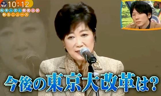 ワイドナショー画像 都議会から事前通告なしの質問をされる小池百合子都知事 2016年12月11日