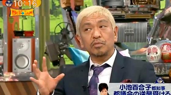 ワイドナショー画像 松本人志「小池都知事が廃止した復活予算は他にもあるのでは」 2016年12月11日