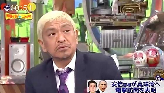 ワイドナショー画像 松本人志「アメリカと日本では戦没者など痛手のバランスが違いすぎる」 2016年12月11日