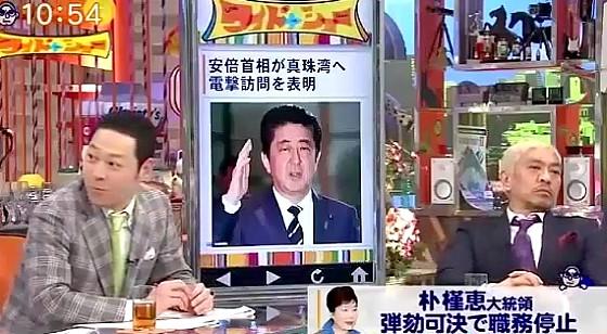 ワイドナショー画像 東野幸治「中韓関係が悪化しつつある」 2016年12月11日