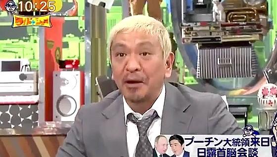 ワイドナショー画像 松本人志「プーチン大統領に遅刻した理由を問い正したい」 2016年12月18日