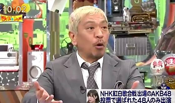 ワイドナショー画像 松本人志「AKBの紅白選抜が可能なら出場歌手全部それにすればいい」 2016年12月18日