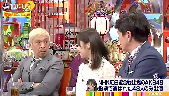 ワイドナショー画像 松本人志が指原莉乃にディナーショーのあぶく銭について言及 2016年12月18日