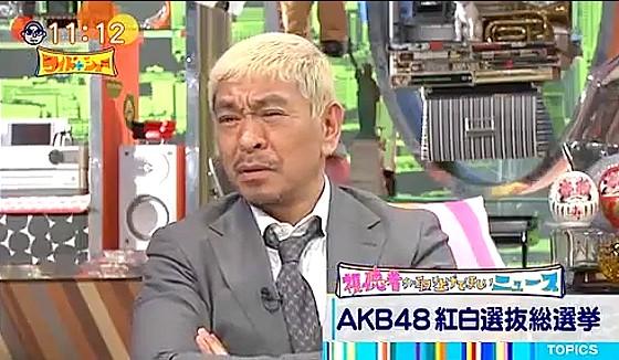 ワイドナショー画像 AKB紅白選抜のアプリを入れると聞いて松本人志が「めんどくさ」 2016年12月18日