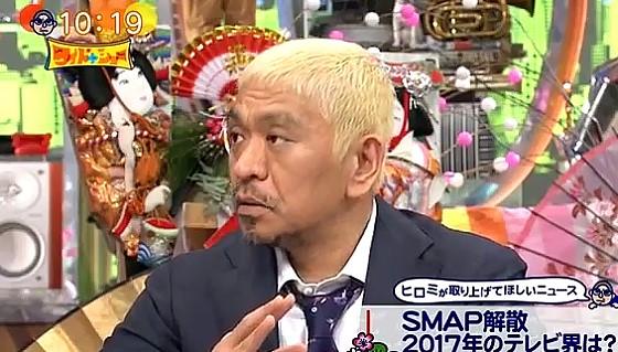 ワイドナショー画像 カズレーザーに口説かれたという松本人志 2017年1月1日