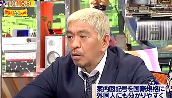 ワイドナショー画像 外国人観光客に配慮した新たな地図記号に感心する松本人志 2017年1月8日