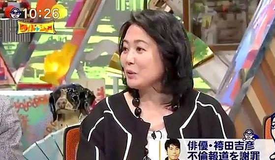 ワイドナショー画像 杉田かおるが不倫の専門家としてコメントを求められ戸惑いの表情 2017年1月15日