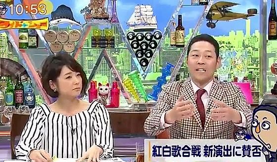 ワイドナショー画像 東野幸治「総合演出の方は新しい紅白歌合戦をという気持ちもわかる」 2017年1月15日