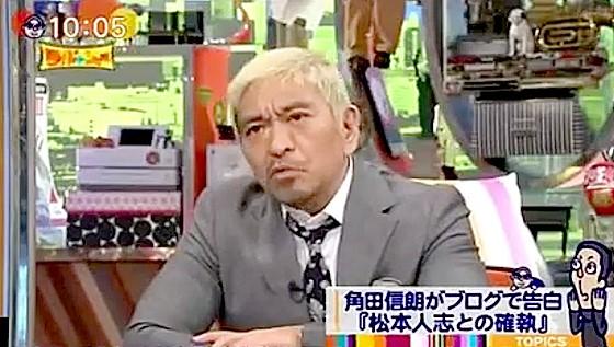ワイドナショー画像 松本人志が角田信朗に「ブログで8年前のことを公表するのはルール違反」 2017年1月22日