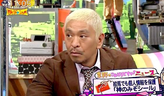 ワイドナショー画像 松本人志が絵馬の個人情報保護のための「神のみぞシール」にツッコミ 2017年1月29日