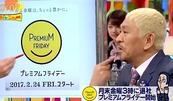 ワイドナショー画像 プレミアムフライデーに対する主婦の声を聞いた松本人志がロゴマーク「口が逆やないか」 2017年2月26日