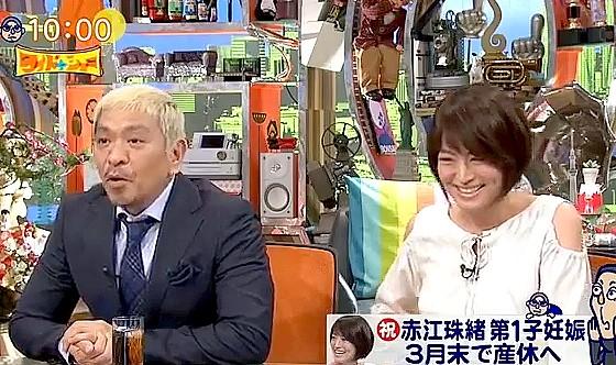 ワイドナショー画像 松本人志が奥さんのつわりの様子を紹介「政治家のぎらついた顔がもうあかんかった」 2017年3月19日