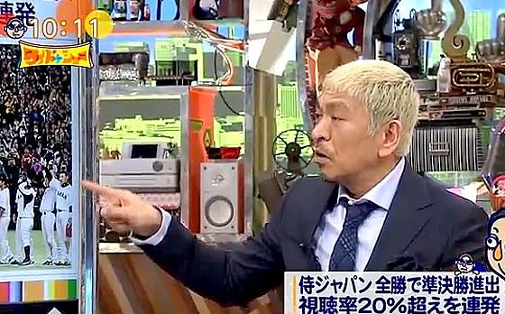 ワイドナショー画像 松本人志が侍ジャパンの内川選手を指して「ひょっとこみたいな人」 2017年3月19日