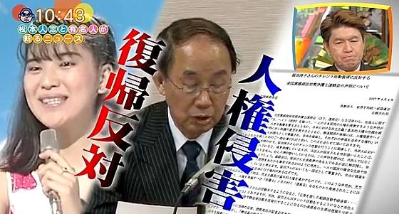 ワイドナショー画像 桜田淳子の芸能界復帰に元信者や弁護士が反対声明 2017年4月9日