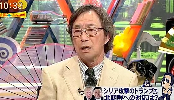 ワイドナショー画像 北朝鮮にアメリカが単独攻撃するかどうかを武田鉄矢が質問 2017年4月9日