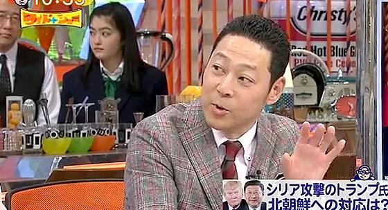 ワイドナショー画像 金正恩が就任以来どの首脳にもあっていないことを東野幸治が質問 2017年4月9日