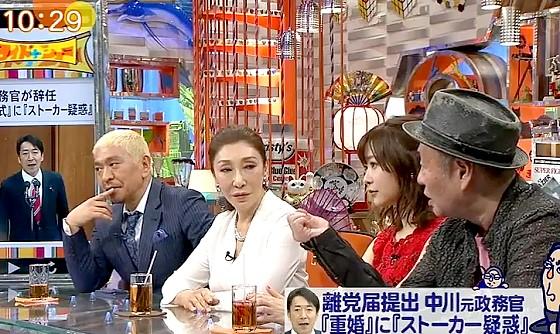 ワイドナショー画像 重婚にストーカー疑惑の中川俊直元政務官に納得行かない様子の泉谷しげる 2017年4月23日