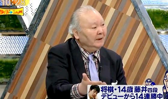 ワイドナショー画像 藤井四段の快進撃を解説するためにワイドナショーのスタジオに登場の加藤一二三九段 2017年4月30日