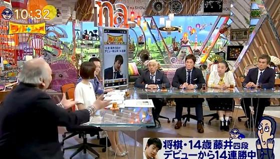 ワイドナショー画像 ひふみんこと加藤一二三九段が快進撃の藤井聡太四段の性格を分析 2017年4月30日