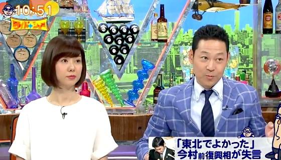 ワイドナショー画像 今村雅弘前復興大臣の辞任のニュースを伝える東野幸治 2017年4月30日