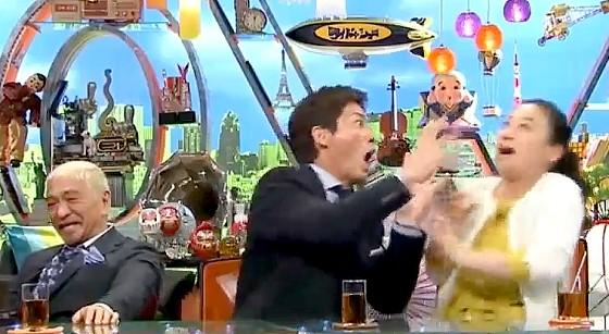 ワイドナショー画像 顔を触ろうとする長嶋一茂に驚くいとうあさこ 2017年4月30日