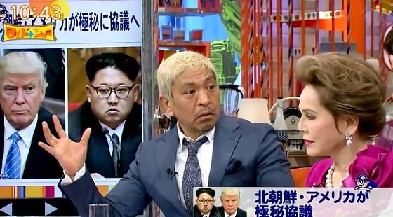 ワイドナショー画像 南北の対話の条件は北朝鮮の核放棄だと考えられることに松本人志「絶対しないですよね」 2017年5月14日