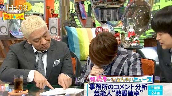 ワイドナショー画像 TMR西川貴教のかつての熱愛報道の際の事務所コメントを本人に読ませる 2017年5月14日