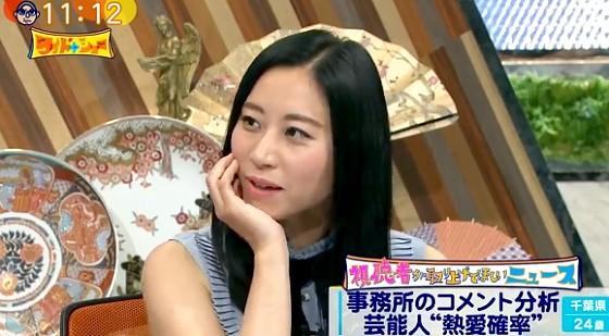 ワイドナショー画像 肘をついたままコメントする三浦瑠麗 2017年5月14日