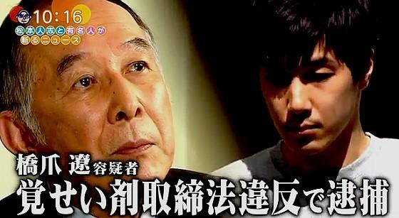 ワイドナショー画像 息子の逮捕を受け橋爪功が謝罪コメントを発表 2017年6月11日