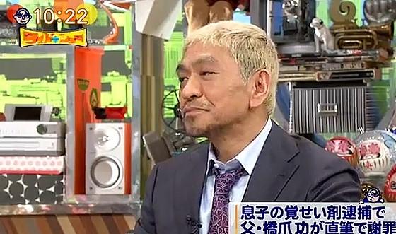 ワイドナショー画像 みうらじゅんの「おならぷ~ぷ~罪」に乗っかるも東野に切られ悲しい顔をする松本人志 2017年6月11日