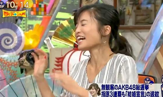 ワイドナショー画像 AKB総選挙を見ていないことを言い訳する小島瑠璃子 2017年6月25日