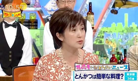 ワイドナショー画像 佐々木恭子アナが揚げ物が簡単な料理だと言う男性に「ふざけんなですよね」 2017年7月2日