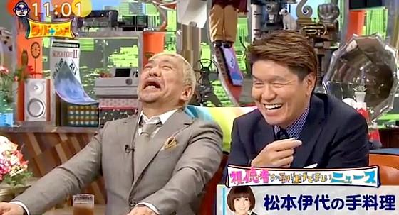 ワイドナショー画像 松本伊代の失敗ミートボールエピソードに大笑いの松本人志 2017年7月2日