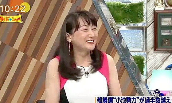 ワイドナショー画像 小池百合子の政治塾一期生のエドはるみが都議選の解説者としてワイドナショーに登場 2017年7月9日