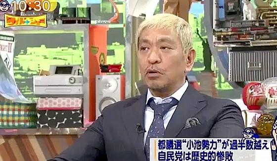 ワイドナショー画像 松本人志がエドはるみに政治家になるようエール 2017年7月9日
